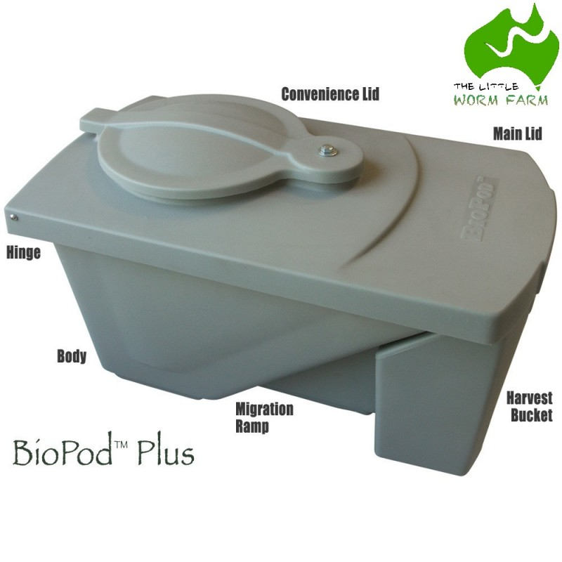 The BioPod Plus - Black Soldier Fly larvae/grubs composter USA AU NZ